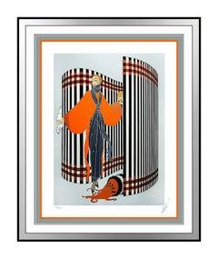 ERTE Original Art Deco Serigraph Set Design Romain de Tirtoff Coquette Signed