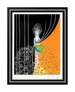 ERTE Printemps Original Color Serigraph Hand Signed Art Deco Set Design Art