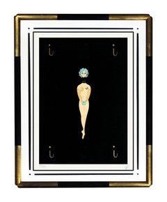 ERTE Serigraph Original Rare SIGNED Art Deco Alphabet Suite Letter I Painting