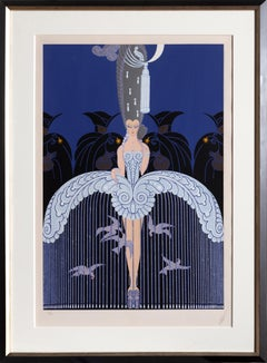 Her Secret Admirers, Art Deco Serigraph by Erte