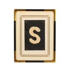 "Letter ""S"" from Alphabet Suite (Signed Erté)"