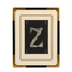 """Letter """"Z"""" from Alphabet Suite (Signed Erté)"""