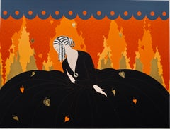 """Memories""  1984, Art Deco signed lithography by Erte"