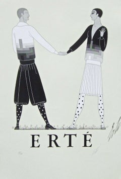 Modern Sports Dress for Men 1968 Limited Edition Event Lithograph Erte SIGNED