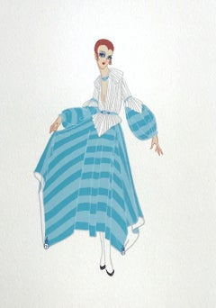 PREMIER Signed Lithograph, 1920's Fashion Illustration, Art Deco Portrait