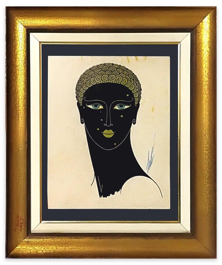 Queen of Sheba - Original Screen Print by Erté - 1980 ca. For Sale 1