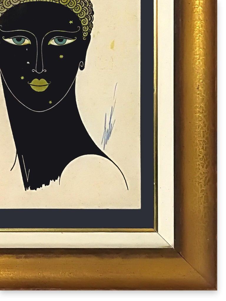 Queen of Sheba - Original Screen Print by Erté - 1980 ca. For Sale 2