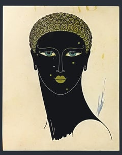 Queen of Sheba - Original Screen Print by Erté - 1980 ca.