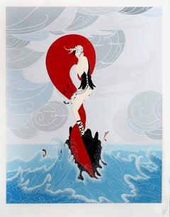 Stranded, Art Deco Serigraph by Erté