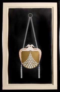 The Clasp, Art Deco Serigraph by Erté