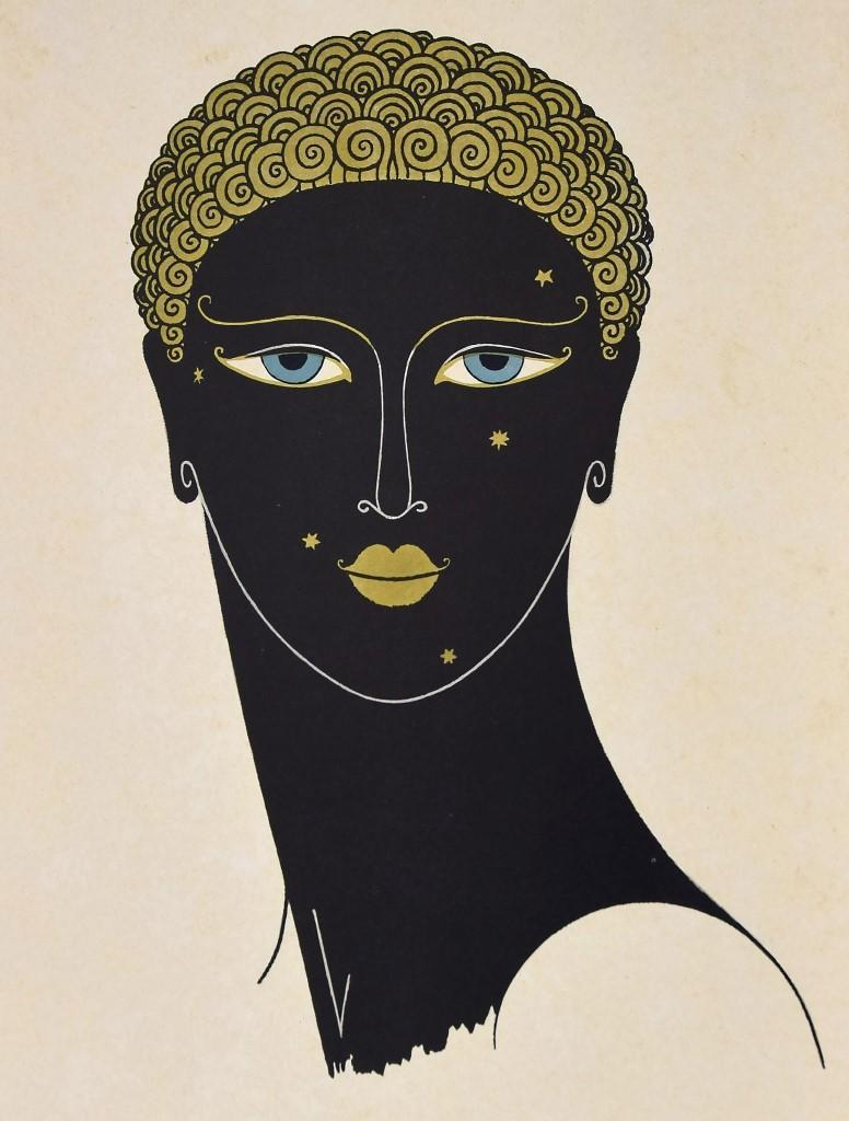The Queen of Sheba - Original Screen Print by Erté - 1971