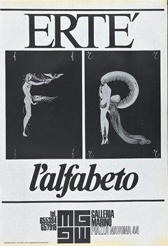 Vintage Erté's Exhibition Poster - Offset Print - 1971