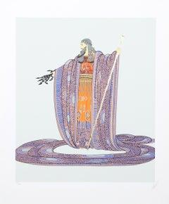 Zeus, Art Deco Serigraph by Erté