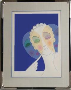 Three Faces, Art Deco Serigraph by Erte