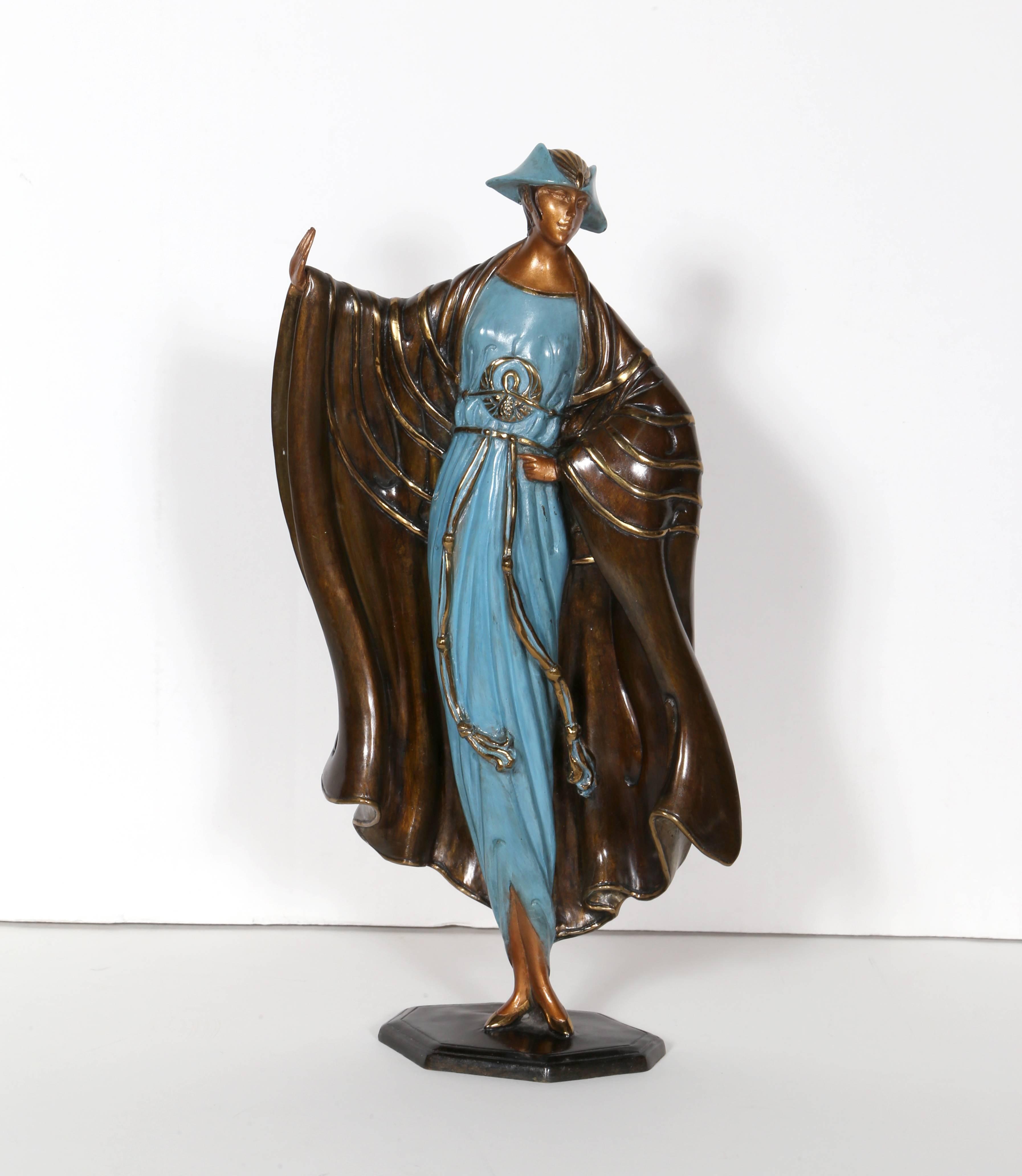 Rue De La Deco erté - rue de la paix, bronze art deco sculptureerte at