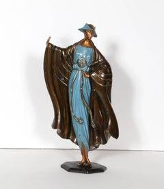 Rue de la Paix, Bronze Art Deco Sculpture by Erte