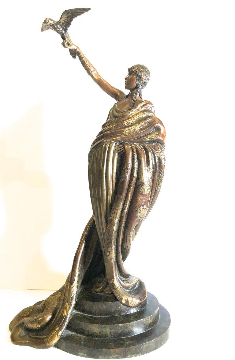 Victoire, bronze polychrome sculpture  - Sculpture by Erte (Romain de Tirtoff)
