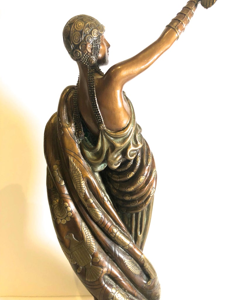 Victoire, bronze polychrome sculpture  For Sale 1