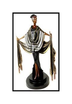 $20,000 ERTE Signed BRONZE Sculpture OPENING NIGHT Original ART DECO antique