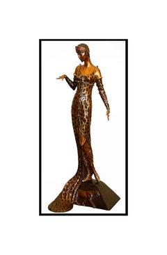 $22,000 ERTE Signed BRONZE Sculpture JULIETTA Original LARGE Art antique Female