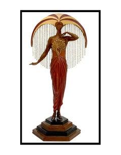 $25,000 ERTE Signed BRONZE Sculpture LE SOLEIL Original Art antique Female RARE
