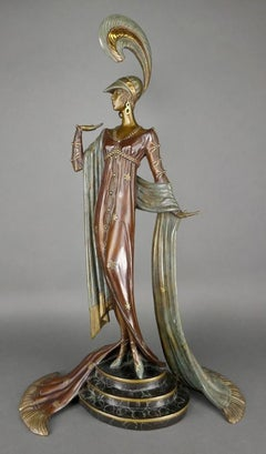 "ERTE BRONZE, ""DIRECTOIRE"" 1985 SIGNED AND NUMBERED RETAIL $25,000"