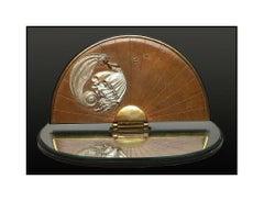 Erte Rare Papillon Original Bronze Sculpture Table Mirror Signed Art Deco Art
