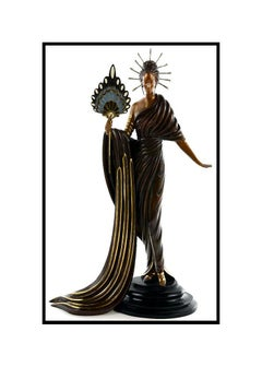 ERTE Signed BRONZE Sculpture APHRODITE Original ART DECO Rare $16,000 Retail