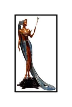 ERTE Signed BRONZE Sculpture ASTRA Original Romain de Tirtoff Art Costume Design