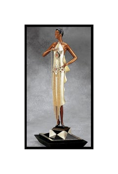 ERTE Signed BRONZE Sculpture CAFE SOCIETY Original ART Romain de Tirtoff LARGE