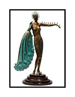 ERTE Signed BRONZE Sculpture DIVA Original Romain de Tirtoff Art Antique