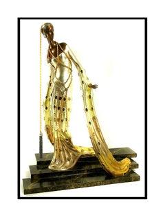 ERTE Signed BRONZE Sculpture MELISANDE Rare LARGE Original Romain de Tirtoff