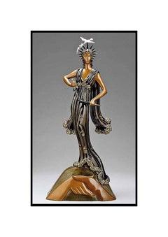 ERTE Signed BRONZE Sculpture PEACE Original Romain de Tirtoff antique art Large