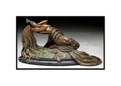 ERTE Signed BRONZE Sculpture PERFUME Original Romain de Tirtoff Art Antique RARE