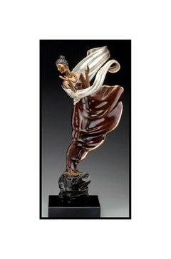 ERTE Signed BRONZE Sculpture SUMMER BREEZE Original Romain de Tirtoff Art