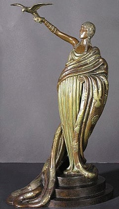 "Erte ""Victoire "" Bronze Sculpture signed and numbered RETAIL- $35,000"