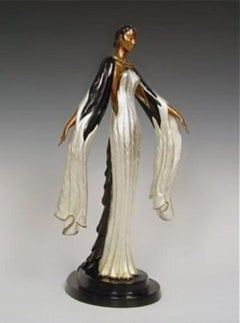 Fire-leaves (Bronze), Limited Edition, Erte - MINT CONDITION with COA