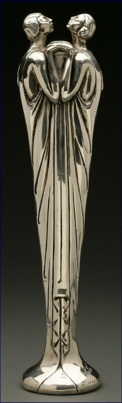 Flora II (Silvered Bronze), Limited Edition Sculpture, Erte