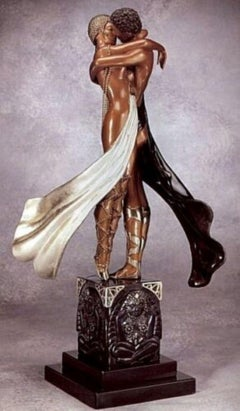 Lovers & Idol (Bronze), Limited Edition, Erte - MINT CONDITION