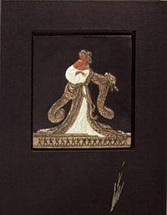 Rigoletto (Bronze) Bas Relief & Signed Book, Limited Edition, Erte - MINT