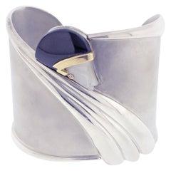 Erté Tempest Silver Cuff Bracelet
