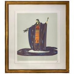Erte Zeus Signed and Numbered Colored Serigraph 179/300