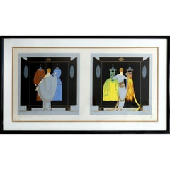 "Erte's ""Le Choix Du Soir"" Signed and Numbered 114/300"