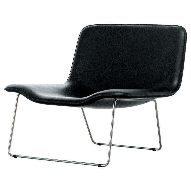 Erwan Bouroullec Spring Armchair in Black Satined Stainless Steel for Cappellini For Sale