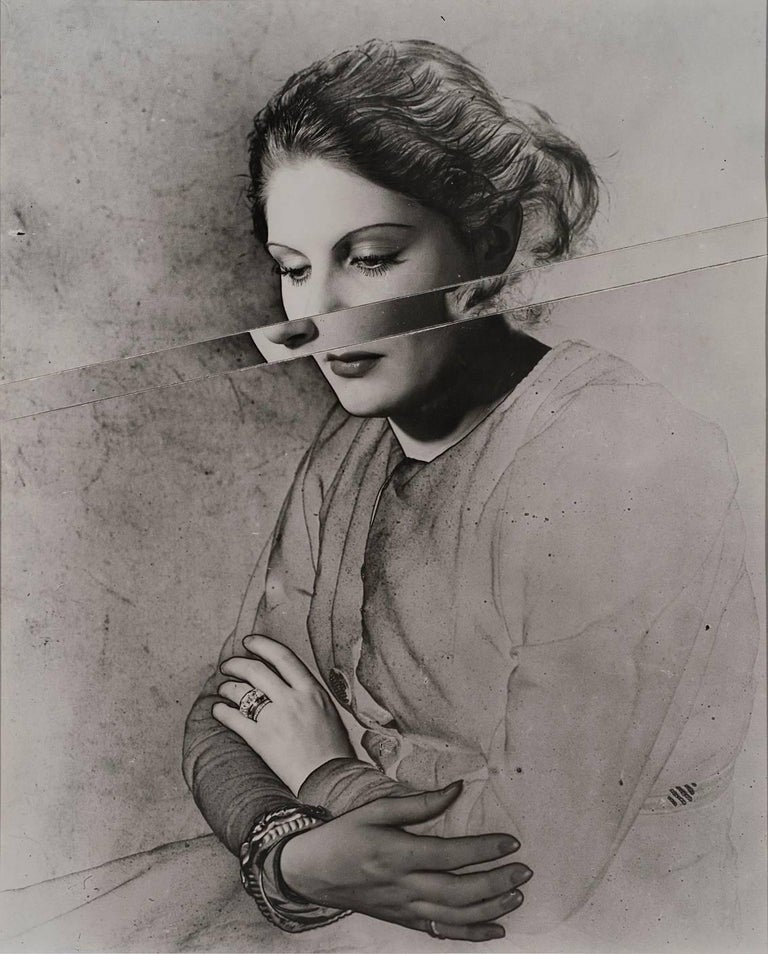 Erwin Blumenfeld Black and White Photograph - Portrait, Solarised and Cut