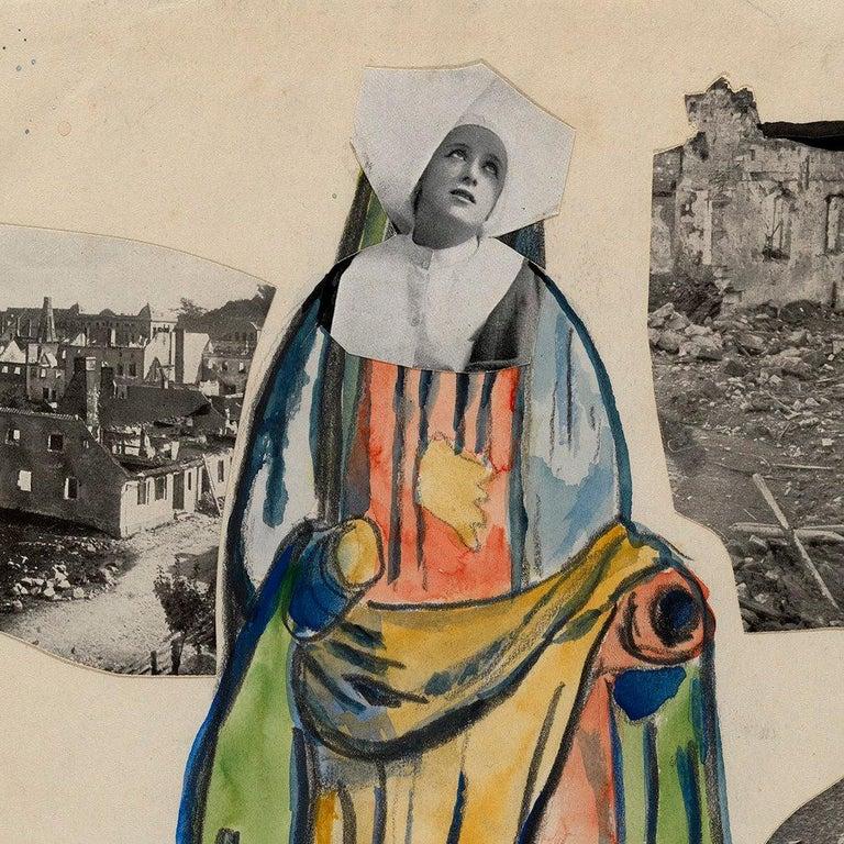 Madonna of War (Nun), Amsterdam - Dada Mixed Media Art by Erwin Blumenfeld