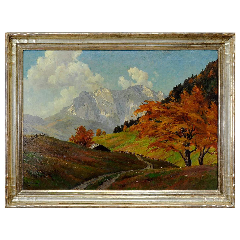 Erwin Kettemann, Landscape in the Tyrolean Alps, circa 1930