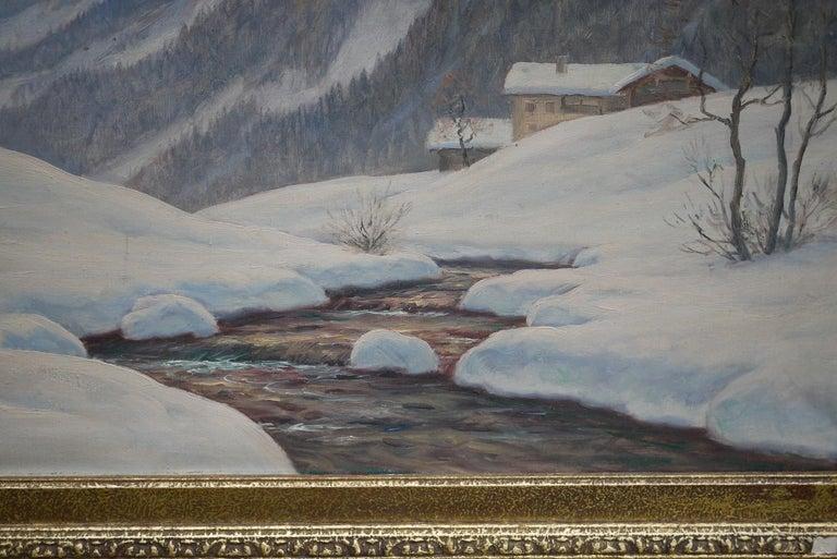 Mid-20th Century Sassolungo, Erwin Kettemann, Oil on Canvas Dolomites Painting, 1940