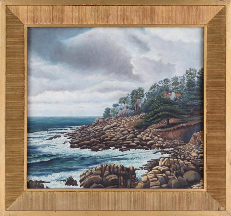 """Erwin M. Wendt Landscape Painting - """"Monterey Coast"""" - Landscape 1938"""