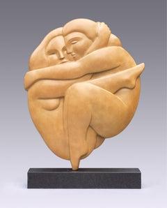 Omhelzing Embrace Bronze Sculpture Love Hug Contemporary